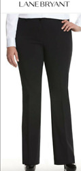 Lane Bryant Womenand039s Career Work Pants The Lena Black Plus Size Bootcut Size 20