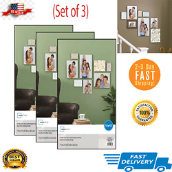 Set of 3 11 x 17quot; Format Picture Frame Wall Black Poster Vertical Horizontal