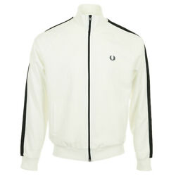Vandecirctement Vestes Fred Perry Homme Tonal Taped Track Jacket Taille Blanc Blanche