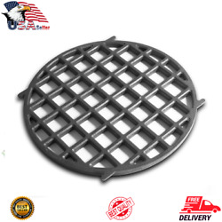 12 Inch Cast Iron Cooking Grill Grate Round For Weber Charcoal Grills Enameled
