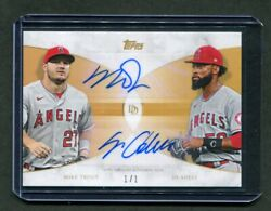 2021 Topps Dynamic Duals Gold Mike Trout - Jo Adell Auto 21-a Angels 1/1