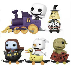 Funko Pop. Nightmare Before Christmas Train Full Set Of 5 In Hand W/ Protector