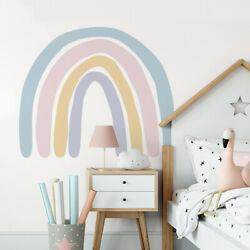 Watercolor Rainbow Wall Stickers Removable for Bed Room Backsplash Wall Decn8