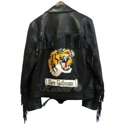 16aw Tiger Embroidered Riders Jacket Black Size 48