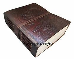Handmade Antique Leather Tree Journal Travel Diary Writing Bound Office Product