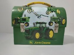 John Deere Lunch Box Food Tin - Fast Shipping Vg Condition