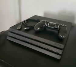 Sony Playstation 4 Ps4 Pro 4k 1tb Console Jet Black With Oem Controller And Cables