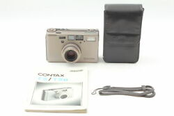 [top Mint With Case] Contax T3 Titan Silver 35mm Point And Shoot Film Camera Japan