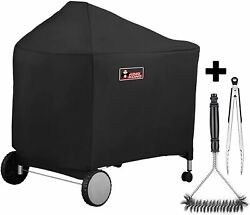 Kingkong 7152 Grill Cover For Weber Performer Charcoal Grills, 22-inch W Extras