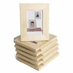 Wallniture Logan Picture Frames 5x7 Unfinished Wood For Kids Arts And Crafts ...