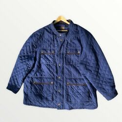 Boulder Creek Trading Company Menand039s Big And Tall Quilted Jacket Barn Coat Navy 5xl