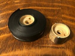 Oliver Typewriter 9/16 Black Cotton Ribbon With Wood Spools And Ribbon Clips