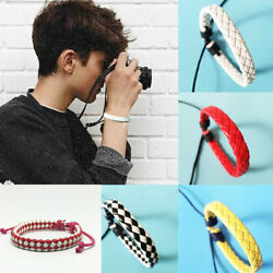Boys Girls Braided Rope Bangle Charm Leather Brown Bracelet Party Jewelry