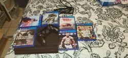 Sony Playstation Ps4 Pro 1tb Console - Black + 5 Games - Controller - Hdmi