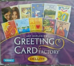 Art Explosion Greeting Card Factory Deluxe Version 5 Cd-rom Software