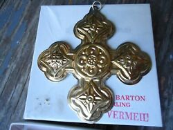 Vintage 1971 Reed And Barton Limited Edition Sterling Silver Christmas Cross