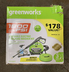 Greenworks 1800psi 1.1 Gpm Portable Electric Pressure Washer Kit - Gpw1804ck