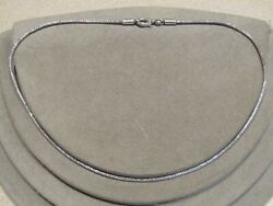 Vintage Sterling Silver Wheat Chain Necklace 18