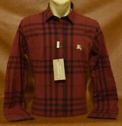 NWT Brand New MEN#x27;S BURBERRY Long Sleeve Classic Fit SHIRT Size S to 2XL $67.90