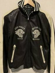 Hysteric Glamour Raw Power Tiger Embroidery Leather Stajan Ia229