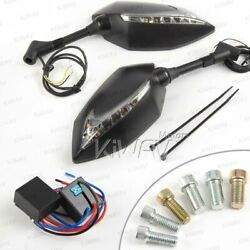 Kiwav Mirror Lucifer Dual Led + Oi Flasher Rate Control Relay For Custom Scooter