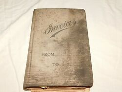 Vintage 1920-1922 Large 14 X 9 X 2 1/2 Receipt Invoices Book From Ny Farm