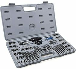 60-pc Master Tap And Die Set - Include Sae Inch Size 4 To 12rdquo And Metric Siz