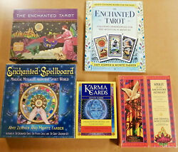 5 Item Oracle Lot Altar Kit Enchanted Tarot And More By Monte Farber And Amy Zerner