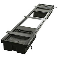 Underchassis Storage Container Double No Spare Tire Carrier 96l X 19.125w