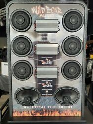 Wild Boar Display Sound System With Amplifiers And Speakers For Motorcycles