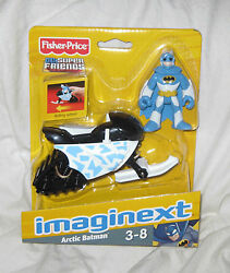 Imaginext Dc Super Friends Arctic Batman And Snowmobile Fisher-price New