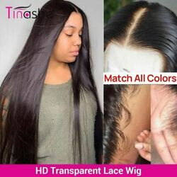 Hd Transparent Lace Frontal Human Hair Wigs Bone Straight Remy Hair Lace Wigs
