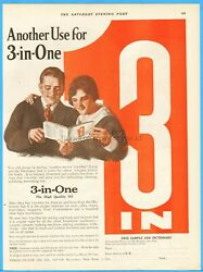 1921 Three In One Oil Co New York Another Use For 3-in-one Dictionary Vintage Ad
