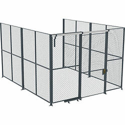 Husky Rack And Wire Ez Wire 10ftlx10ftwx10fth 3-sided Cage- 4ft Slide Door