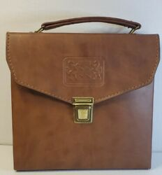 Vintage Leather Rare Portable Travel Mini Bar Carry Case With Accessories