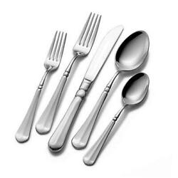 65-piece 18/10 Stainless Steel Flatware Set With Serving French Countryside
