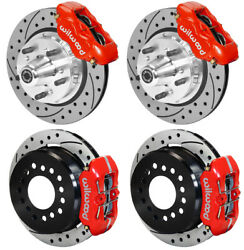 Wilwood Disc Brake Kit65-72 Dodge A-bodyplymouth11 Drilledw/pb Cablered