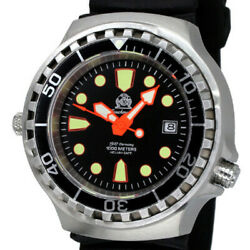 Tauchmeister 1000m Waterproof Diverand039s Watch Mechanical Self-winding Watches 21