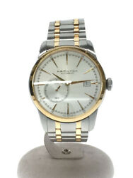 Hamilton Rail Road/ Small Second Self-winding Watch Analog/ Stainless Steel Gold