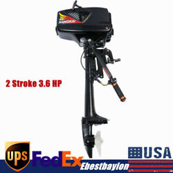 New 2 Stroke 3.6 Hp Outboard Motor Water Cooled Fishing Boat Petrol Engine Parts