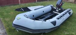 Zodiac Inflatable Dinghy Boat 3.5 M. With Mercury Outboard Oars For Fishing Pump