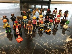 Playmobil toy figure lot people horses Santa Pirates and more
