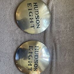 Vintage 1936 Hudson Eight Hubcaps Lot Of 2