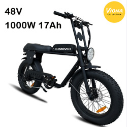 1000w Electric Bike 48v 17ah Mountain Ebike Snow Scooter Bicycle 4.0 Fat Tire
