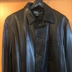 Polo Leather Jacket Size M Vintage Short From Japan