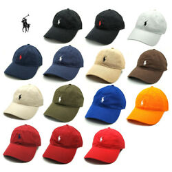 New Polo Cap With Fine Embroidery Small Pony Logo Hat Baseball 100 Cotton