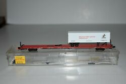N Scale Mtl 71023 Brillion And Forest Junction 89' Flat Car With Trailer 23223