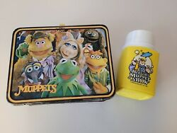 Vintage 1979 Jim Hensons The Muppets Fozzy Bear Metal Lunch Box W/thermos
