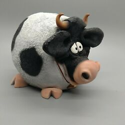Swibco Cow Shaped Piggy Coin Bank Resin
