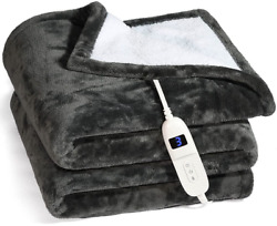 Electric Heated Blanket Machine Washable 50x60 Soft And Comfortable Blanket